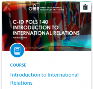 Tile image of C-ID POLS 140 Introduction to International Relations Canvas Shell