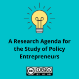 A Research Agenda for the Study of Policy Entrepreneurs