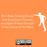 Born Weak, Growing Strong: Anti-Government Protests as a Signal of Rebel Strength in the Context of Civil Wars