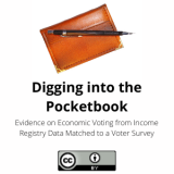 Digging into the Pocketbook: Evidence on Economic Voting from Income Registry Data Matched to a Voter Survey