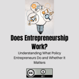 Does Entrepreneurship Work? Understanding What Policy Entrepreneurs Do and Whether It Matters