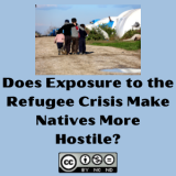 Does Exposure to the Refugee Crisis Make Natives More Hostile?