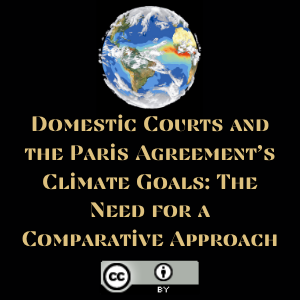 Domestic Courts and the Paris Agreement's Climate Goals: The Need for a Comparative Approach