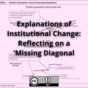 Explanations of Institutional Change: Reflecting on a 'Missing Diagonal