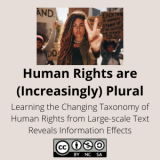 Human Rights are (Increasingly) Plural: Learning the Changing Taxonomy of Human Rights from Large-scale Text Reveals Information Effects