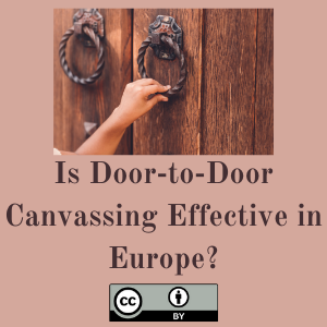 Is Door-to-Door Canvassing Effective in Europe? Evidence from a Meta-Study across Six European Countries