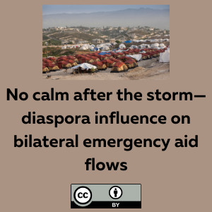 No calm after the storm—diaspora influence on bilateral emergency aid flows