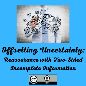 Offsetting Uncertainty: Reassurance with Two‐Sided Incomplete Information
