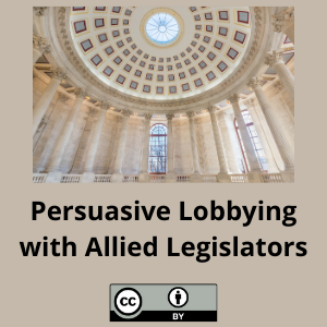 Persuasive Lobbying with Allied Legislators