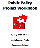 Public Policy Project Workbook: Spring 2020 Edition