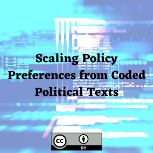 Scaling Policy Preferences from Coded Political Texts