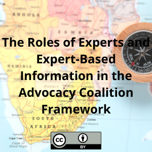 The Roles of Experts and Expert-Based Information in the Advocacy Coalition Framework: Conceptual and Empirical Considerations Based on the Acid Mine Drainage Case Study in Gauteng, South Africa