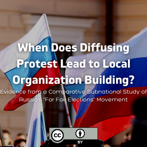 """When Does Diffusing Protest Lead to Local Organization Building? Evidence from a Comparative Subnational Study of Russia's """"For Fair Elections"""" Movement"""