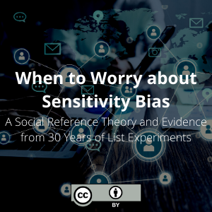 When to Worry about Sensitivity Bias: A Social Reference Theory and Evidence from 30 Years of List Experiments