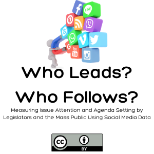 Who Leads? Who Follows? Measuring Issue Attention and Agenda Setting by Legislators and the Mass Public Using Social Media Data