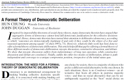 A Formal Theory of Democratic Deliberation
